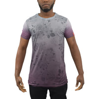 Mens t-shirt juice plum Longline Tee - Kandor Clothing Company Ltd UK