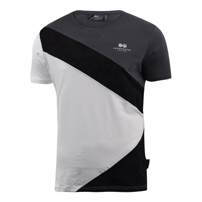 Mens Crosshatch T-Shirt Contrast Short Sleeve Tee Top Maybank - Kandor Clothing Company Ltd UK