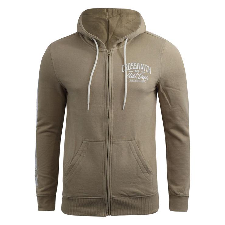 Mens Crosshatch Hoodie Thrive Full Zip Hoody Pullover Sweatshirt - Kandor Clothing Company Ltd UK