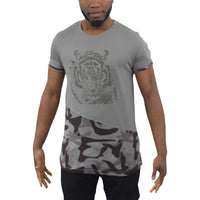 Mens T-shirt Tiger Longline Juice Crew Neck Tee Top T-shirt - Kandor Clothing Company Ltd UK