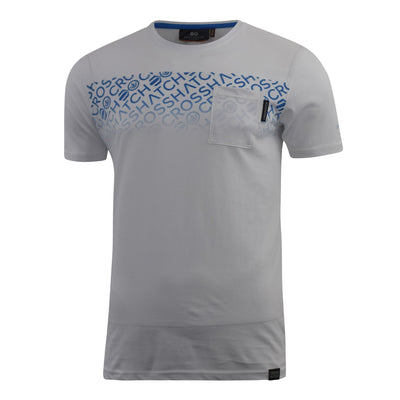 Mens Crosshatch T-shirt Contrast Graphic Print Top Tee Westfan - Kandor Clothing Company Ltd UK