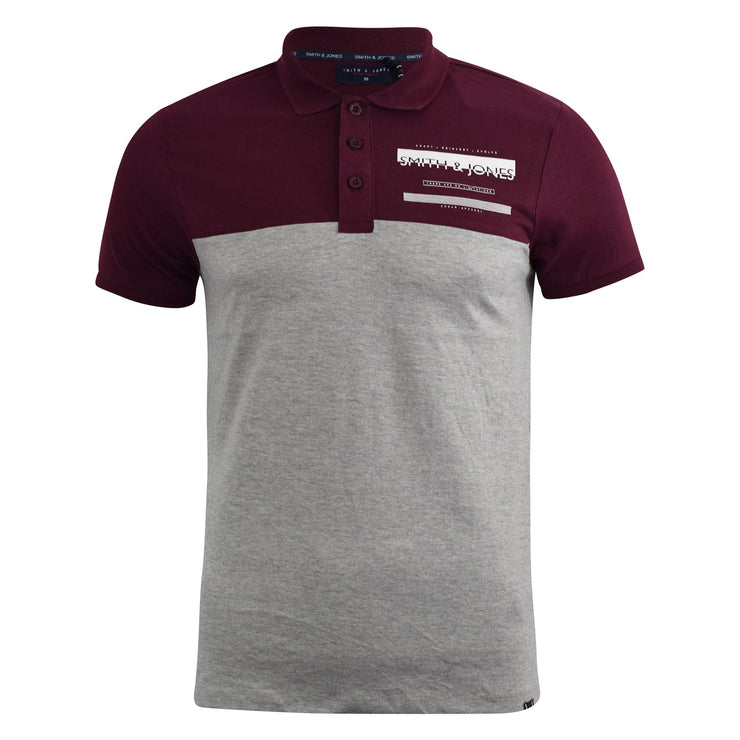 Mens Polo Shirt Smith and Jones Collared Tee Top Askew - Kandor Clothing Company Ltd UK