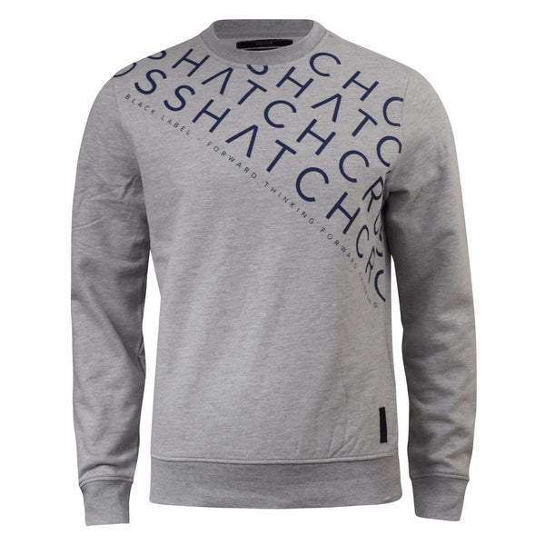 Mens Jumper Crosshatch Leeroy Long Sleeve Crew Neck Sweatshirt