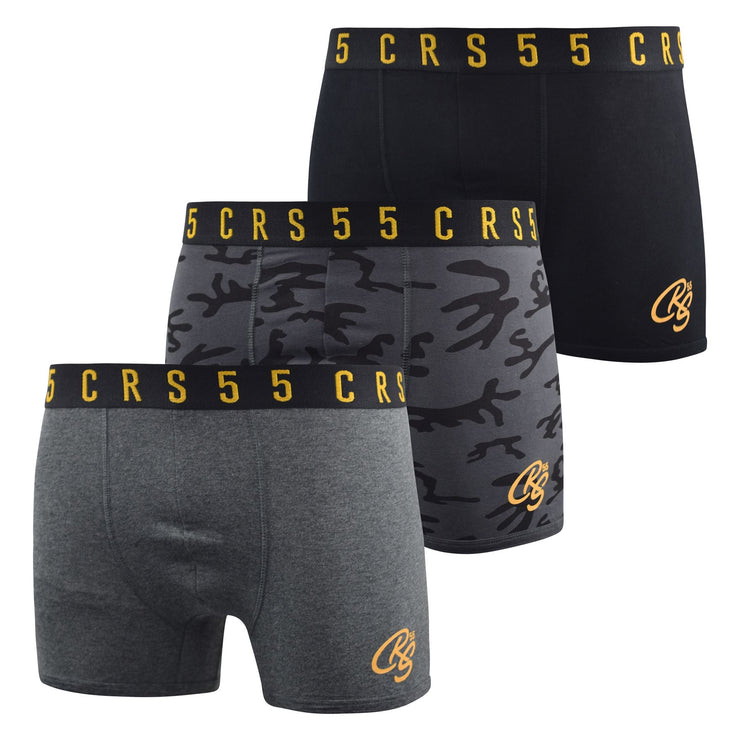 Mens Boxers Shorts Crosshatch Multipacked 3PK Underwear Gift Set 3 Pack Rhossili - Kandor Clothing Company Ltd UK