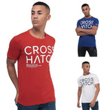 Mens Crosshatch T-shirt Crew Neck LINQS Top Tee