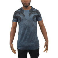 Mens T-Shirt BOA Longline Sublimated Graphic Tee Top - Kandor Clothing Company Ltd UK