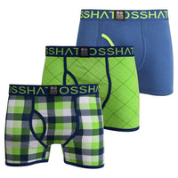 Mens Boxers Crosshatch Shorts Tartastic 3PK Trunks Underwear Gift Set 3 Pack - Kandor Clothing Company Ltd UK