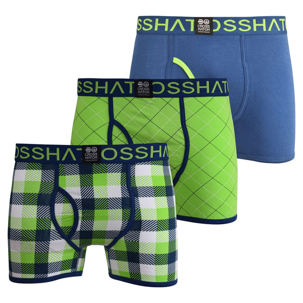 Mens Boxers Crosshatch Shorts Tartastic 3PK Trunks Underwear Gift Set 3 Pack