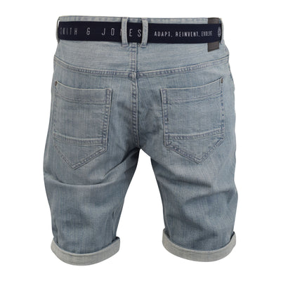 Mens denim short smith and jones belted redfield - Kandor Clothing Company Ltd UK