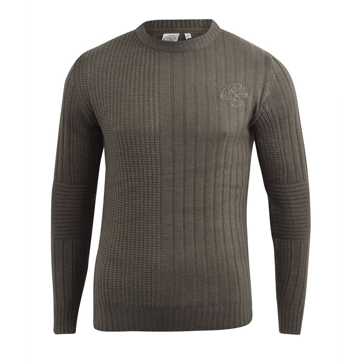 Mens knitwear crosshatch textured Jumper - Kandor Clothing Company Ltd UK