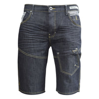 Mens Denim Short Summer Designer Firetrap Leepoc Jeans  Knee Length Pants - Kandor Clothing Company Ltd UK