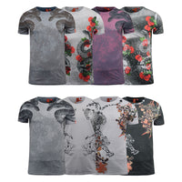 Mens T-Shirt Juice Animal Print Flower Crew Neck Summer Tee Top - Kandor Clothing Company Ltd UK
