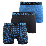 Mens Boxers Shorts Crosshatch Multipacked 3PK Underwear Gift Set 3 Pack Saunton - Kandor Clothing Company Ltd UK