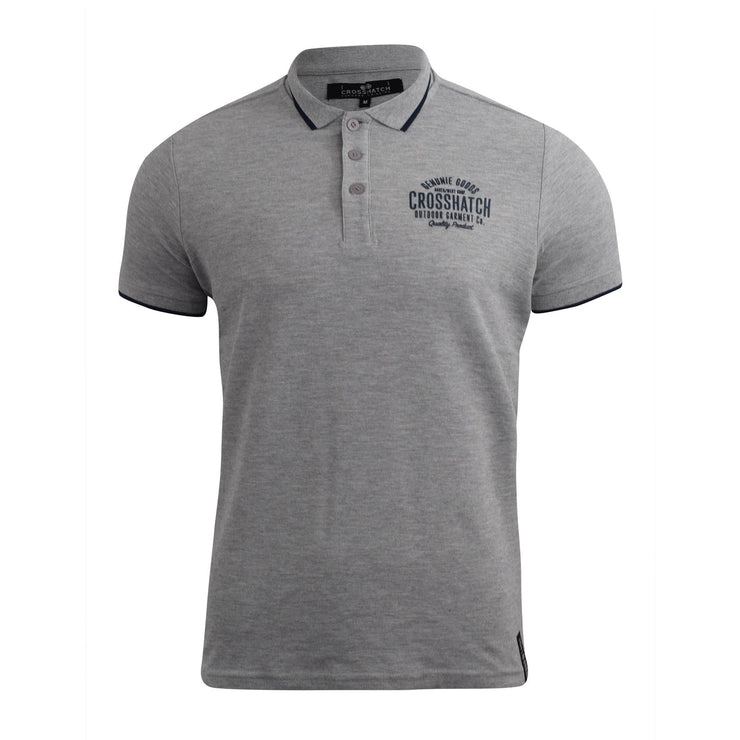 Mens crosshatch polo t-shirt Seton - Kandor Clothing Company Ltd UK