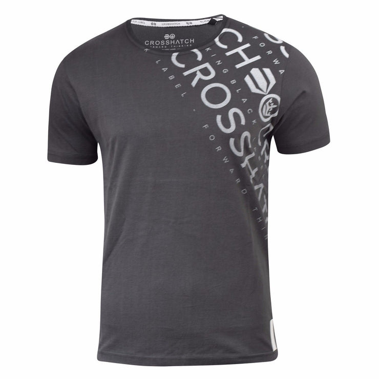 Mens T Shirt Crosshatch Fadesout Graphic Cotton Crew Neck Casual Top S-XXL - Kandor Clothing Company Ltd UK
