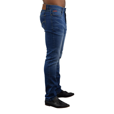 Mens Jeans Life & Glory Slim Fit Stretch Jean Button Denim Pant - Kandor Clothing Company Ltd UK