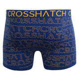 Mens Boxers Crosshatch Shorts Logo Trunks Underwear Gift Set 3 Pack - Kandor Clothing Company Ltd UK