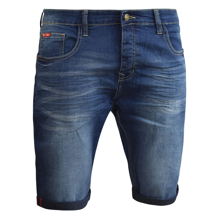 Mens Jeans Short Life and Glory Timmy Casual Denim Turn up Shorts Size S - XXL - Kandor Clothing Company Ltd UK