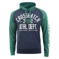 Mens Hoodie Crosshatch Sweatshirt  Hooded Jumper Top Pullover TEMPTONS