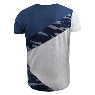 Mens t-shirt crosshatch camo top browfoot - Kandor Clothing Company Ltd UK