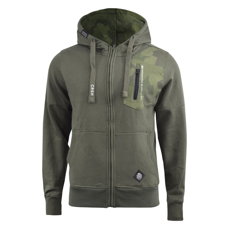 Mens Hoodie Crosshatch Full Zip Radzim - Kandor Clothing Company Ltd UK