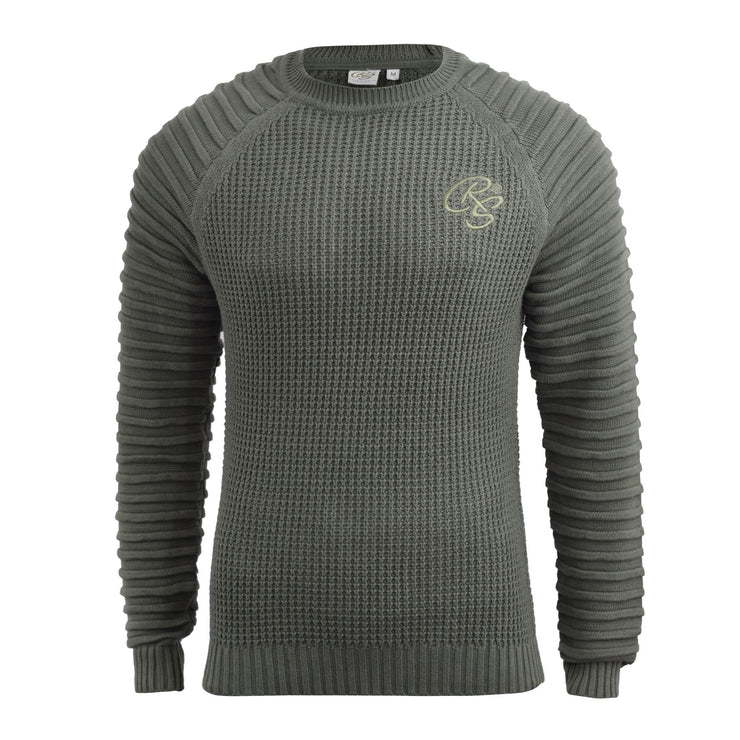 Mens knitwear crosshatch sweater top - Kandor Clothing Company Ltd UK