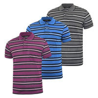 Mens Polo Shirt JJ Willis Stripe Summer Pique Tee Top Django - Kandor Clothing Company Ltd UK
