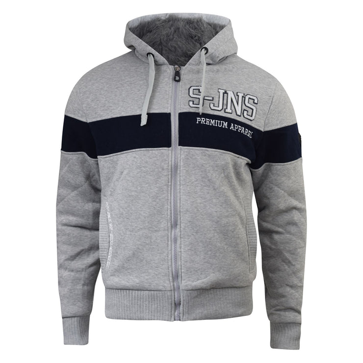 Mens Hoodie Smith and Jones Sweatshirt Faux Fur Fleece Lined Hoodie - Kandor Clothing Company Ltd UK