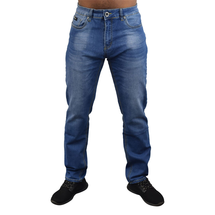 Mens Jeans Firetrap Stretch Durable Straight Leg Regular Fit Relaxed Denim Jeans - Kandor Clothing Company Ltd UK