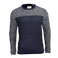 Mens Jumper Brave Soul Solid Knitwear Knit Crew Neck Sweater - Kandor Clothing Company Ltd UK