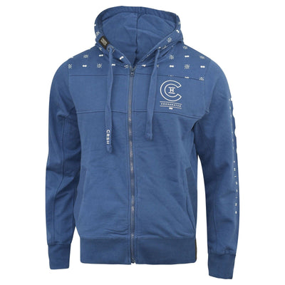 Mens crosshatch Hoodie Full zip zunite - Kandor Clothing Company Ltd UK