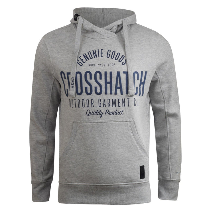 Mens Hoodie Crosshatch Seton  Sweatshirt  Hooded Top - Kandor Clothing Company Ltd UK
