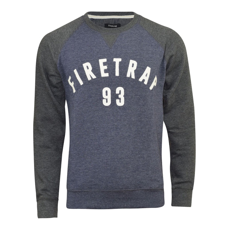 Firetrap Mens Sweatshirt Top Jumper Rumsey Crew Neck Summer Jumper - Kandor Clothing Company Ltd UK