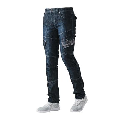 Mens Jeans CROSSHATCH New Cargo Combat Denim Pants All Waist & Leg Sizes - Kandor Clothing Company Ltd UK