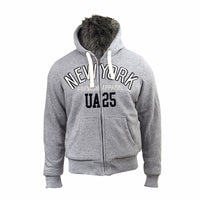 Mens Hoodie Smith & Jones Faux Fur Lined Hooded Sweatshirt Warm Fleece Winter - Kandor Clothing Company Ltd UK