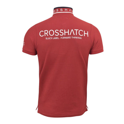 Mens Polo T Shirt Crosshatch  Collared Cotton Short Sleeve Casual Top BayHP - Kandor Clothing Company Ltd UK