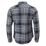 Mens Check Shirt Crosshatch Long Sleeved Collared Casual - Kandor Clothing Company Ltd UK