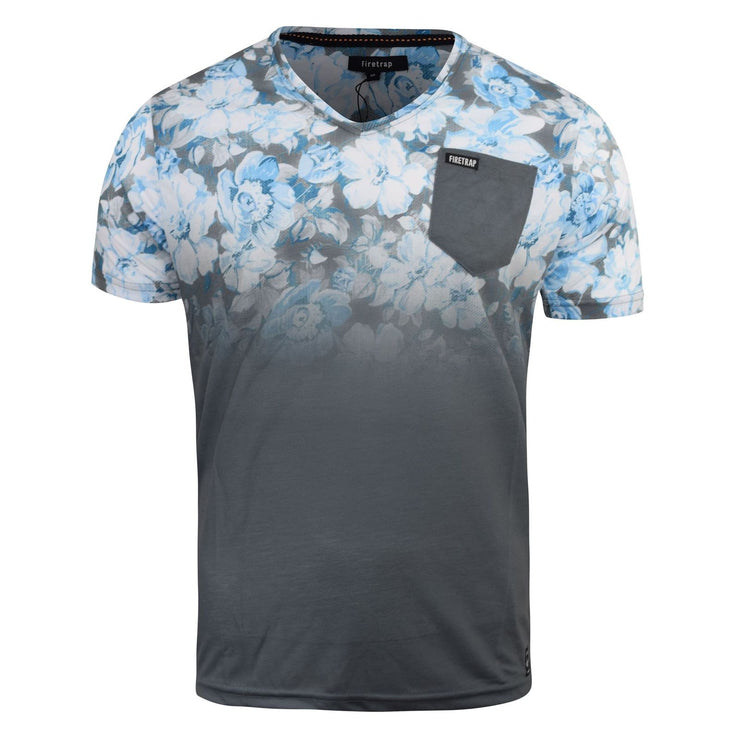 Mens Firetrap T-shirt Fedette Floral Top - Kandor Clothing Company Ltd UK