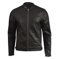 Mens Jacket Firetrap Faux Leather Bullard Bikers Coat - Kandor Clothing Company Ltd UK