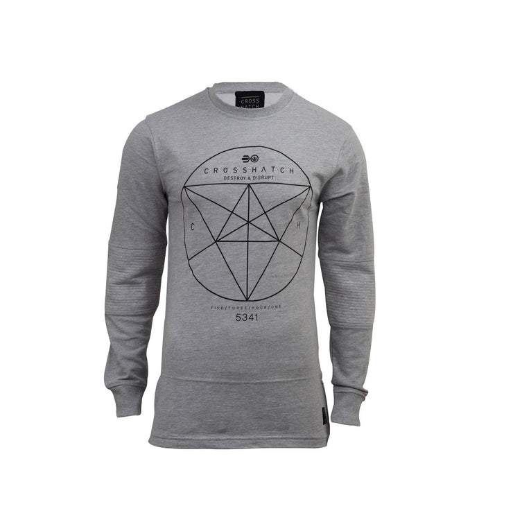 Mens crosshatch sweatshirt long sleeve - Kandor Clothing Company Ltd UK