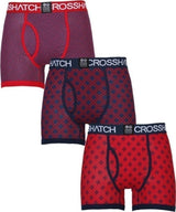 Mens Boxers Shorts Crosshatch Grillis 3 Multipack Underwear Trunks S - XXL - Kandor Clothing Company Ltd UK