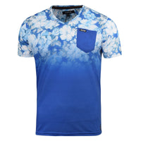 Mens Firetrap T-Shirt Fedette Floral Short Sleeve Vee Neck Cotton Print Tee Top - Kandor Clothing Company Ltd UK