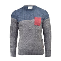 Mens Jumper Tokyo Tiger Solid Knitted Crew Neck Pullover, Sweater, Cardigan - Kandor Clothing Company Ltd UK