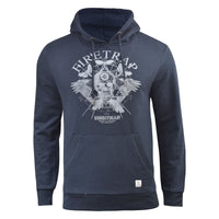 Mens Hoodie Firetrap Designer Overhead Orono Hooded Jumper Sweatshirt Top - Kandor Clothing Company Ltd UK