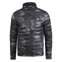 Mens Jacket Camo Bubble Money Clothing  Zip Through Coat - Kandor Clothing Company Ltd UK