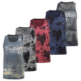 Mens Firetrap Vest Sleeveless Muscle Tank Top Gym Graphic Print WalMehn Tee - Kandor Clothing Company Ltd UK