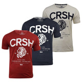 Mens T-Shirt Crosshatch Aichi Tee Crew Neck Short Sleeve Printed Tee Top S-XXL - Kandor Clothing Company Ltd UK