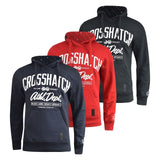 Mens hoodie crosshatch reynard Top - Kandor Clothing Company Ltd UK