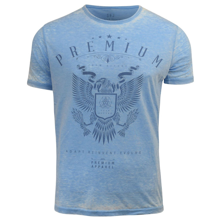 Mens T-Shirt Smith & Jones Burnt Out T-Shirt, Crew Neck, Regular Fit, Cotton Tee - Kandor Clothing Company Ltd UK