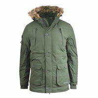 Mens Jacket Crosshatch Heavy Weight Killblake Fur Hood Parka Padded Winter Coat - Kandor Clothing Company Ltd UK